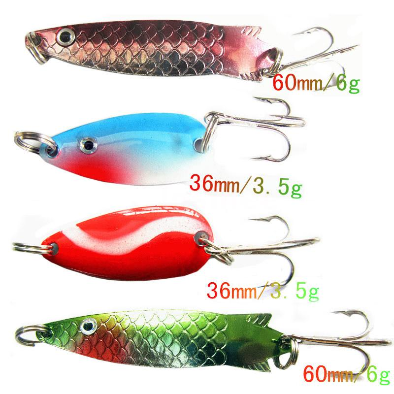 30x assorted kinds of spoon metal fishing lures with hooks for Fishing lure with camera