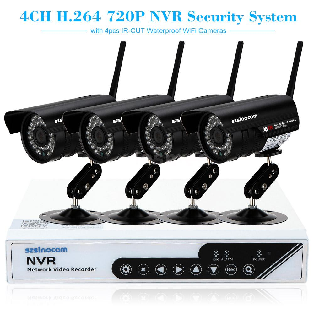 4ch hd 720p wireless wifi outdoor ip camera nvr kit security system kit us stock ebay. Black Bedroom Furniture Sets. Home Design Ideas