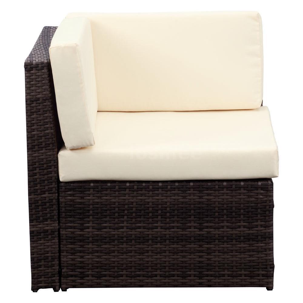 ikayaa 7pcs patio garden furniture sofa set corner couch sectional sofa set