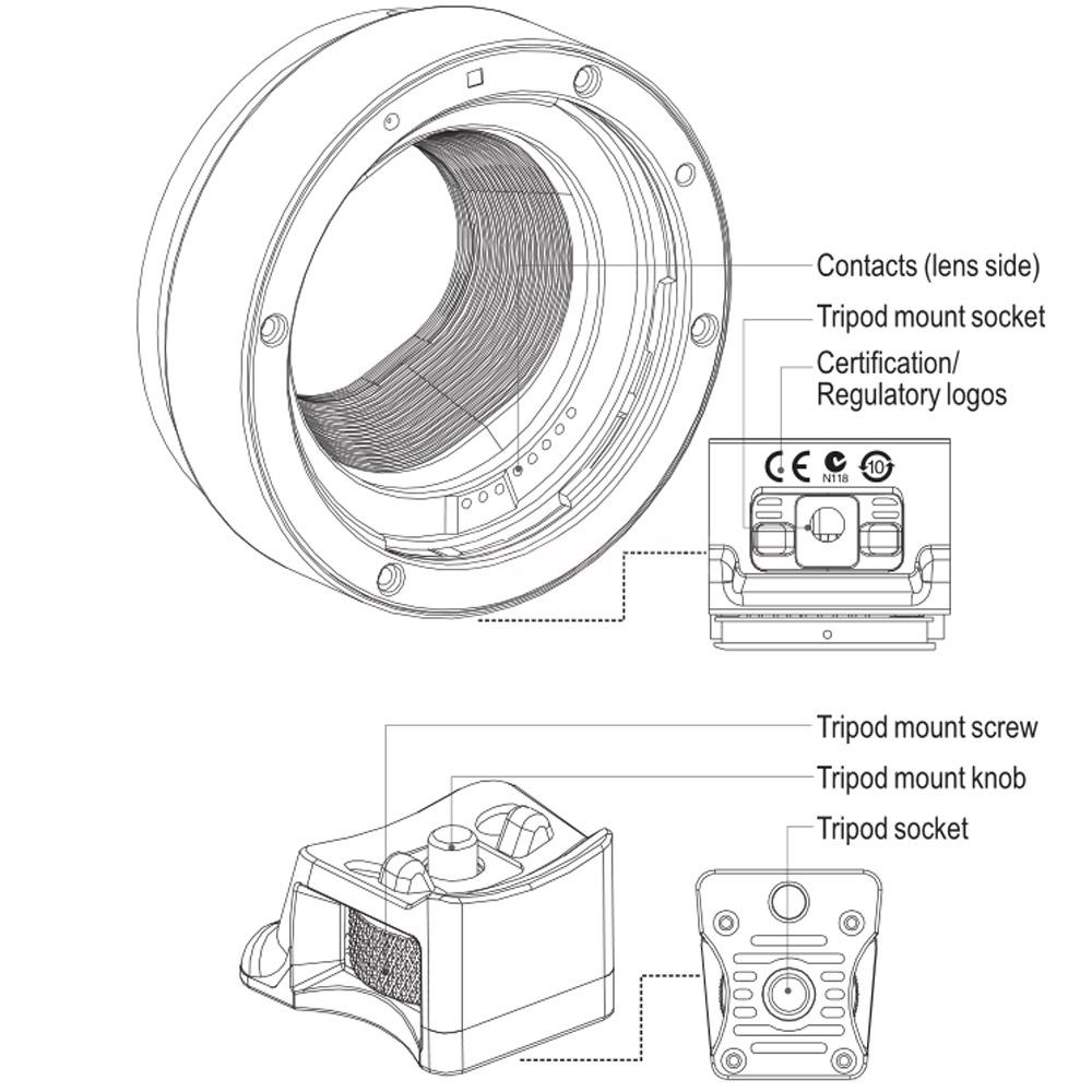Viltrox EF-EOS M Mount Adapter AF for Canon EF EF-S Len to