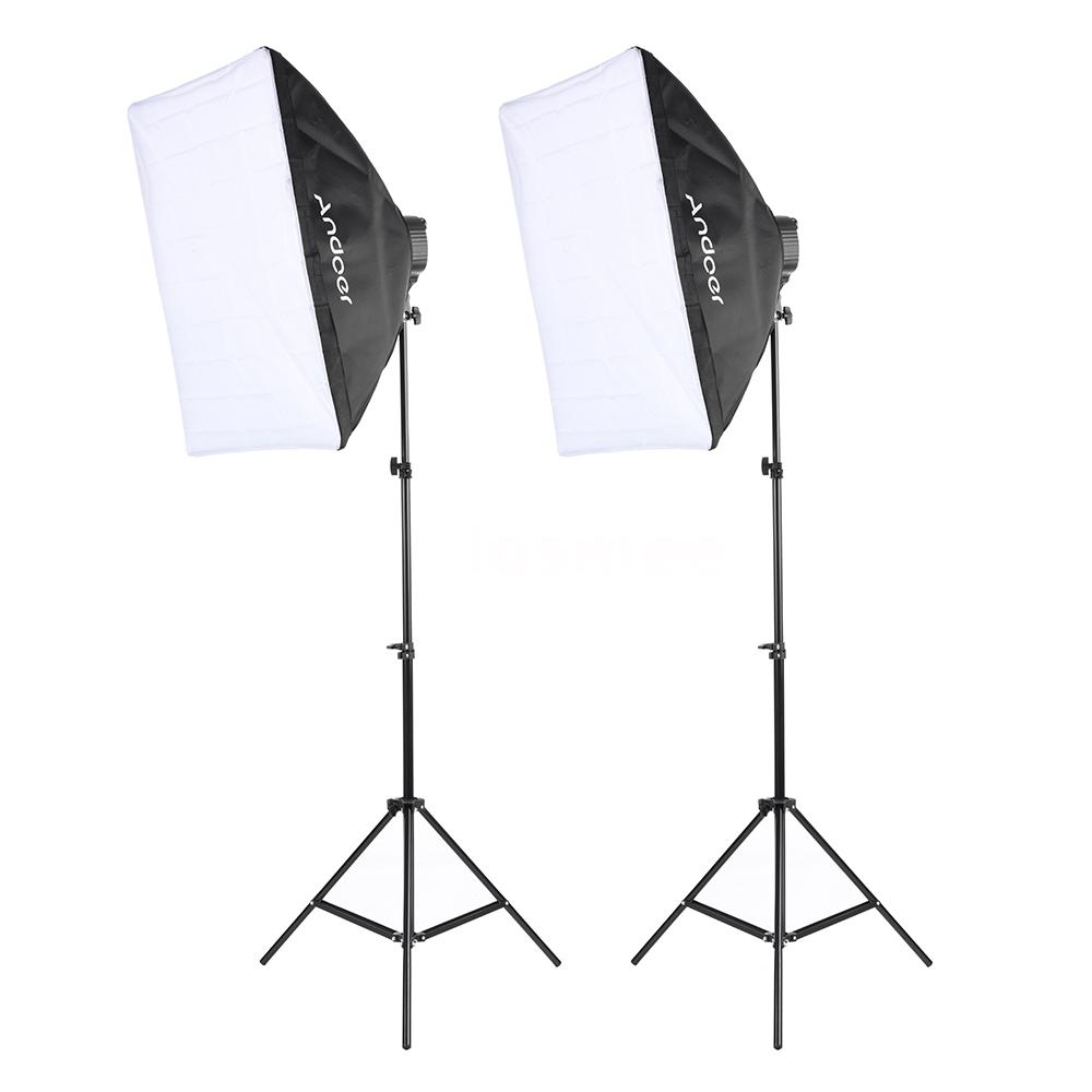 Diffused Light Stand: Photography Studio Video Light Continuous Lighting Softbox