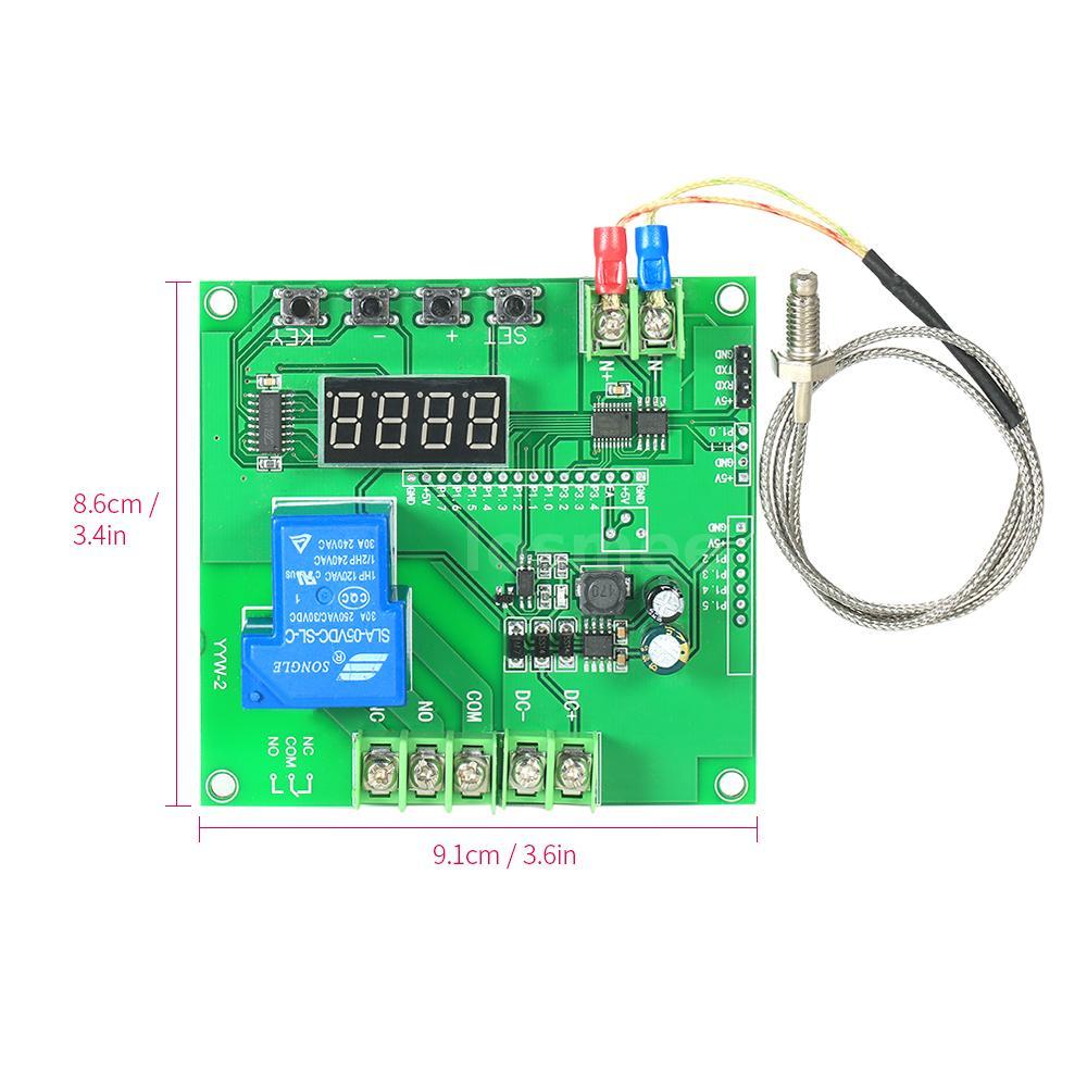 0~1000℃ LED Temperature Controller Module PCB Board w// K-type Sensor Probe D5U6