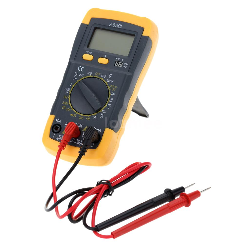 Check For Continuity Voltmeter : Digital lcd multimeter dmm voltmeter ammeter ohmmeter hfe