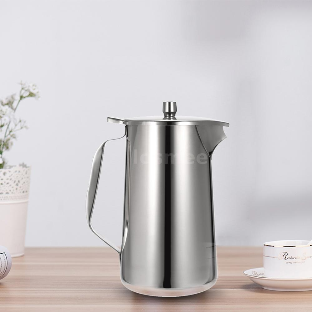 l stainless steel cold water pot ice tea jug kettle water pitcher  - this stainless steel water jug is essential for shaking tea or any liquidthat could use a good mixing before drinking perfect for brewing water orcoffee