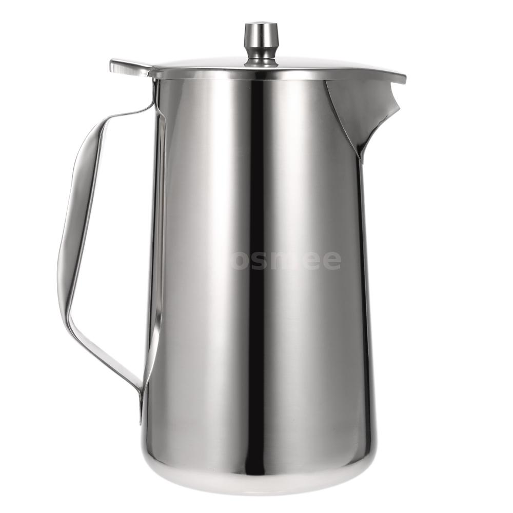l stainless steel cold water pot ice tea jug kettle water pitcher  - l stainless steel cold water pot ice tea jug kettle water pitcher with liddq