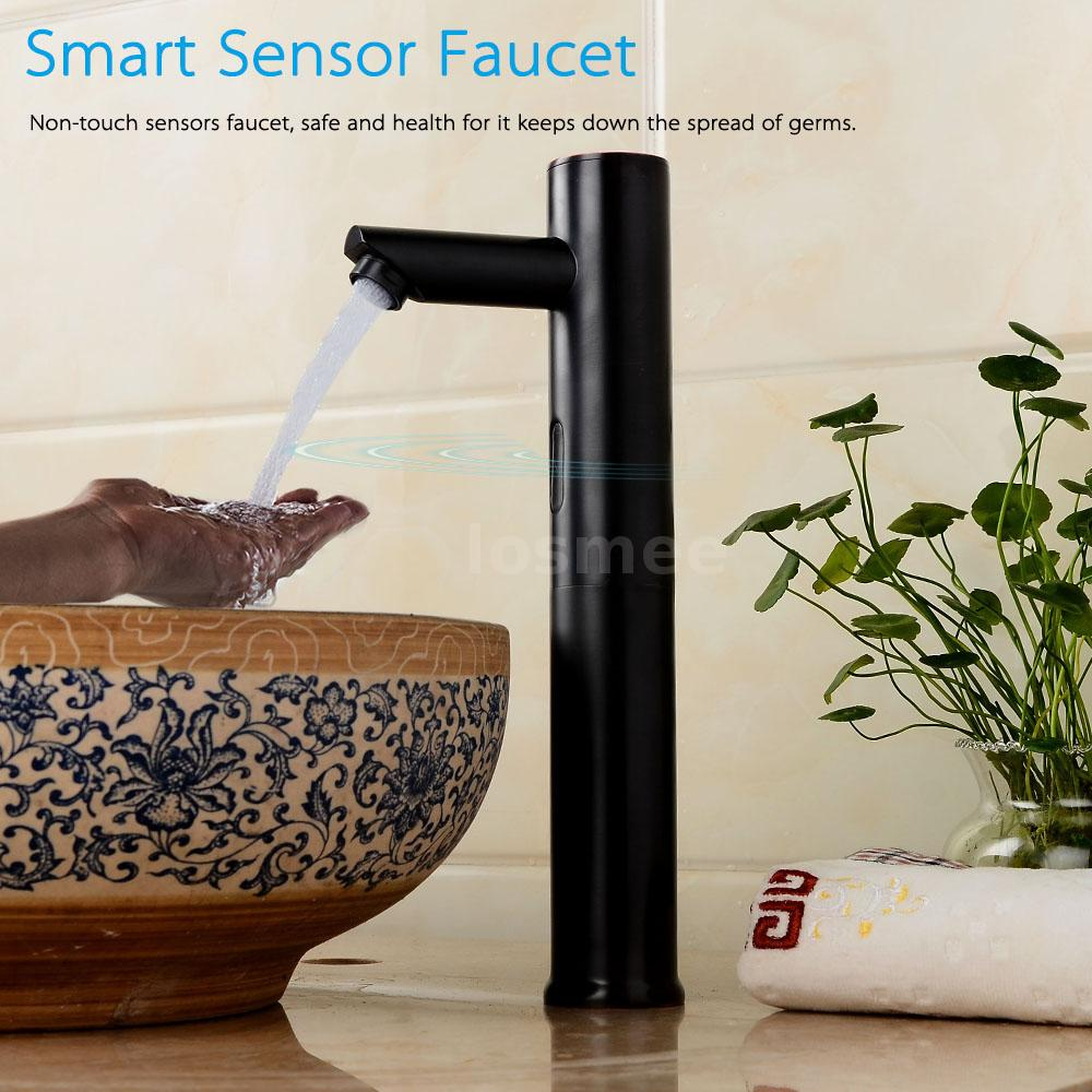 Water Automatic Free Hand Touch Sensor Mixer Bathroom Basin Sink ...