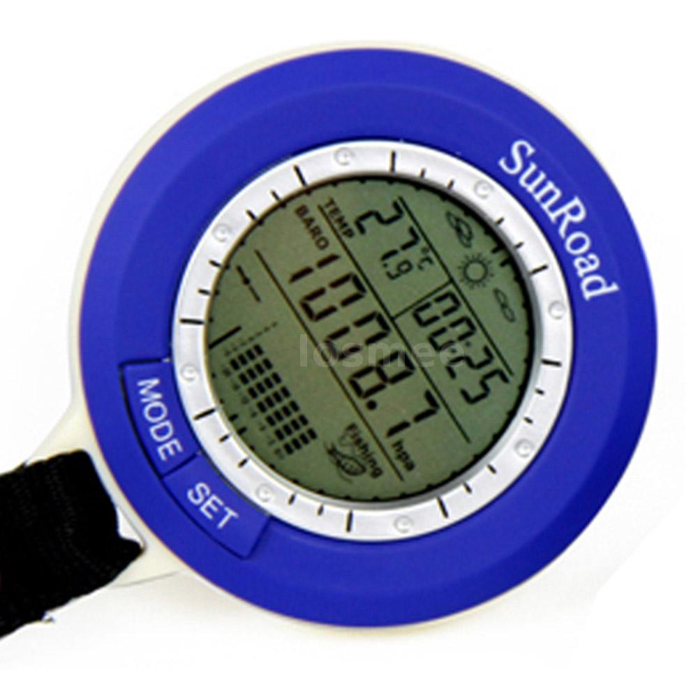 Sunroad sr204 portable lcd digital fishing barometer for Barometric pressure forecast for fishing
