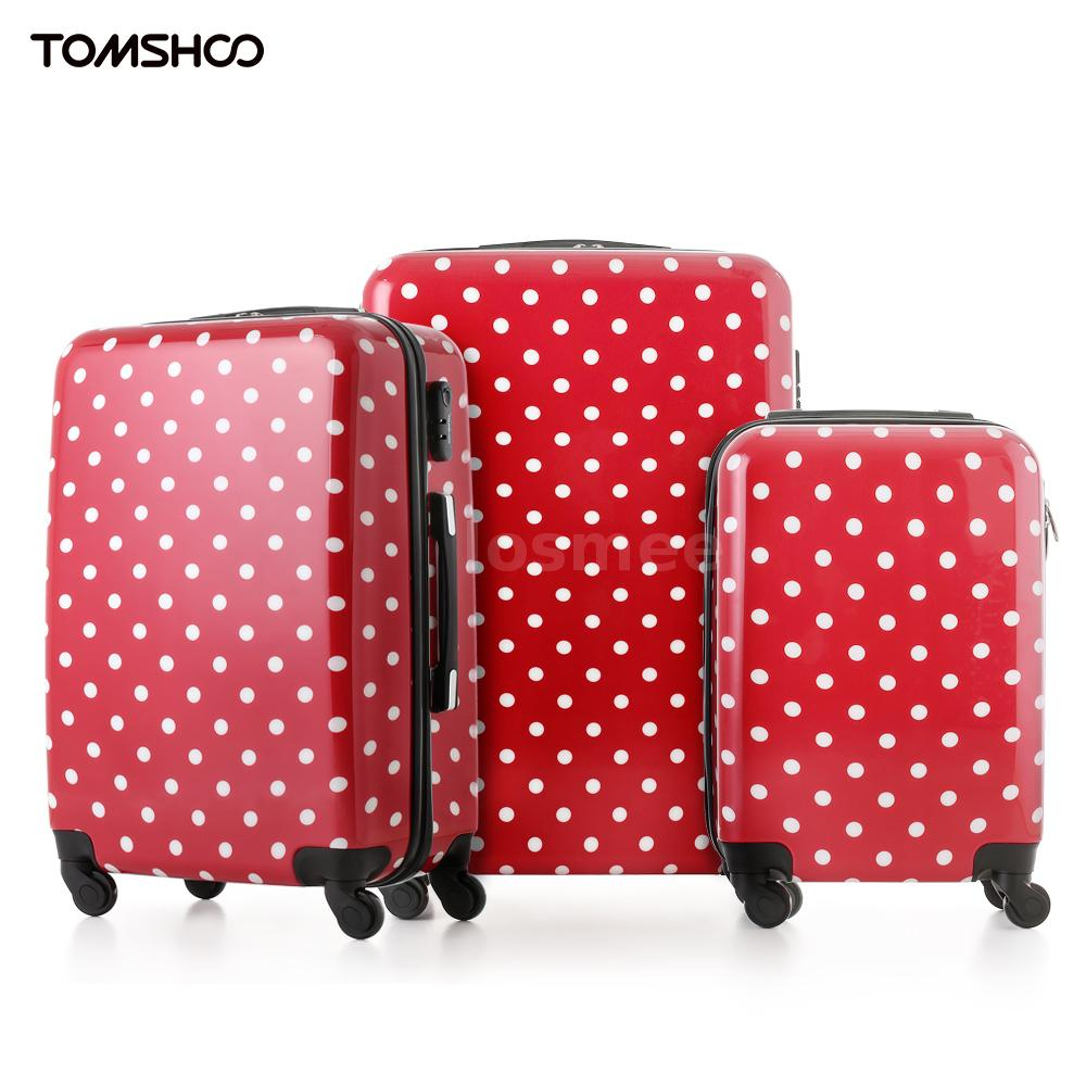 3pcs Luggage Set Carry-on Trolley Hard Shell Spinner ...