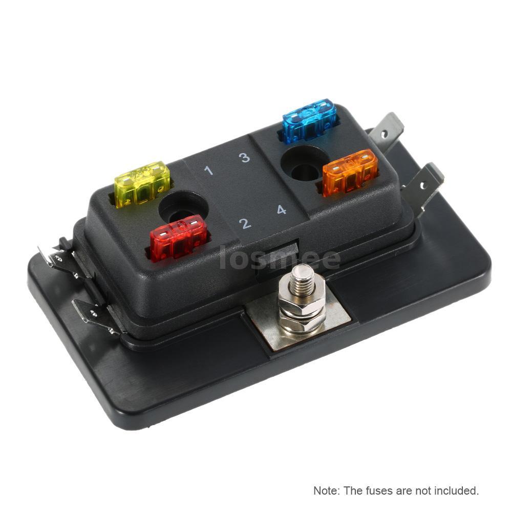 4 way mini blade fuse box holder atm apm 5a 10a 25a for boat marine 12v 24v j4o4 ebay