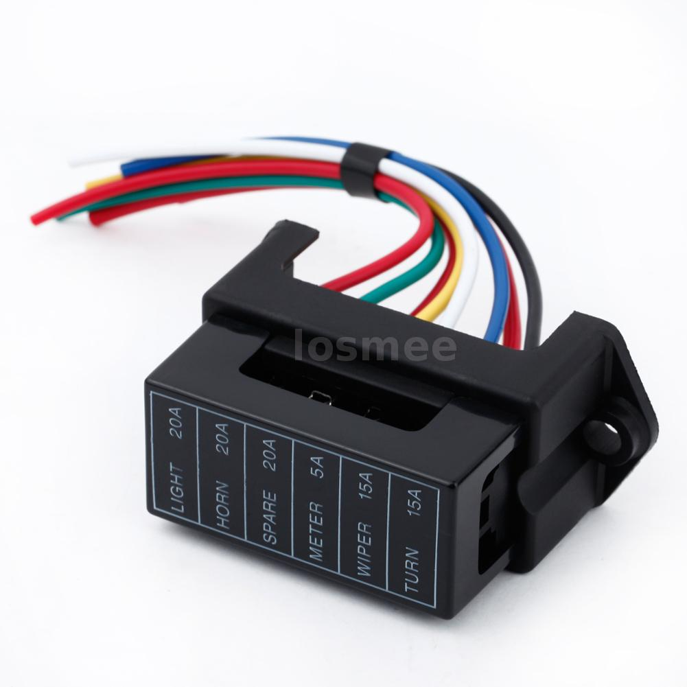 32v 6 way circuit car boat auto atc ato blade fuse box. Black Bedroom Furniture Sets. Home Design Ideas