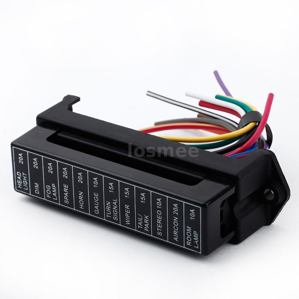v way circuit car automotive blade fuse box block holder atc 32v 12 way circuit car automotive blade fuse box block holder atc ato wire