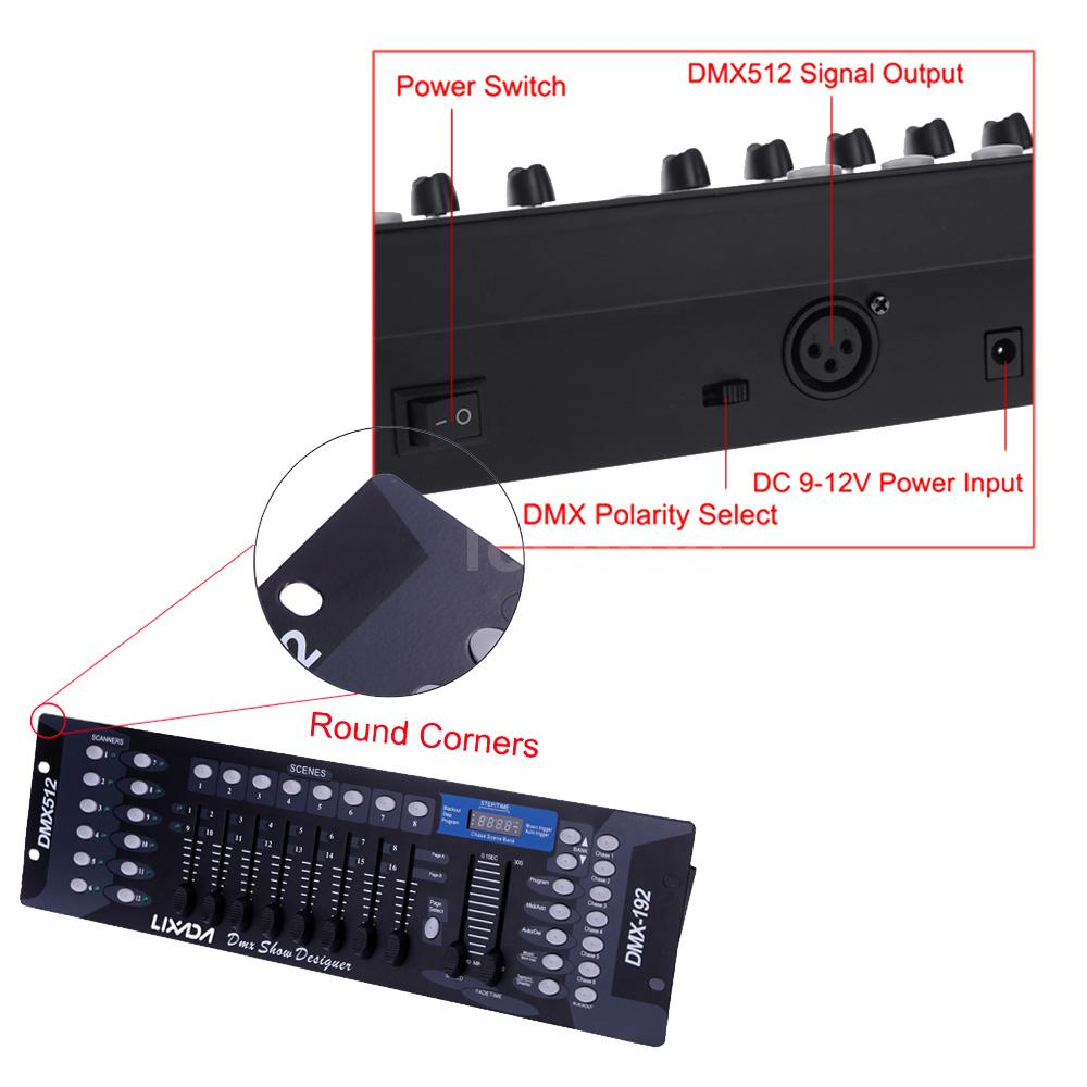 lixada 192 channels dmx512 controller manual