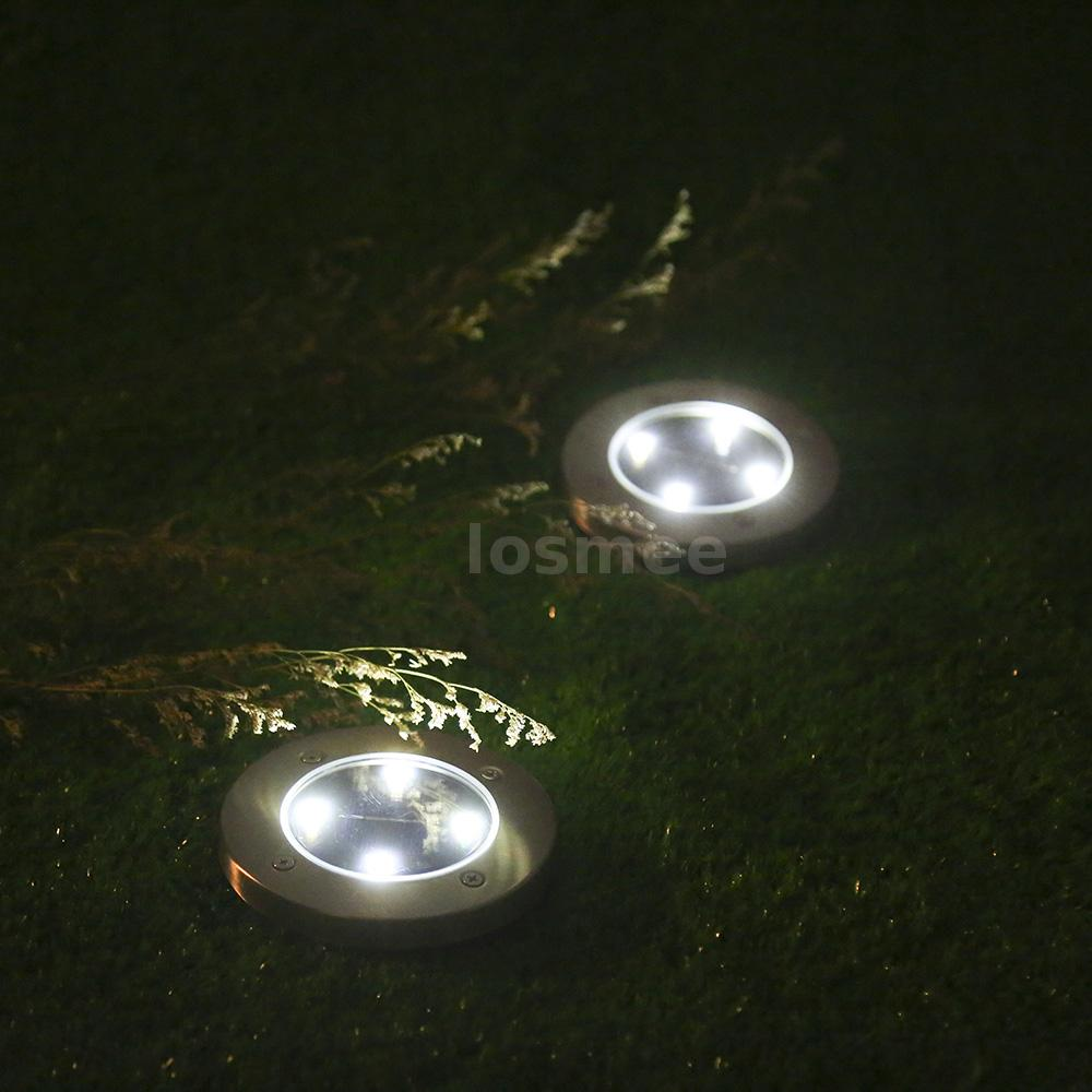 4x garden landscape solar light spike outdoor lighting ground lamp this type of in ground solar light automatically lights up when night comes and automatically turns off when sun rises helps to illuminate your path mozeypictures Choice Image