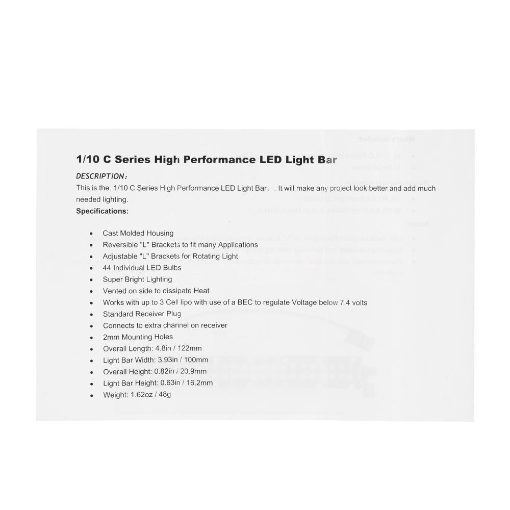 1//10 C Series High Performance Bright LED Light Bar Metal Roof Light Lamp K7E8
