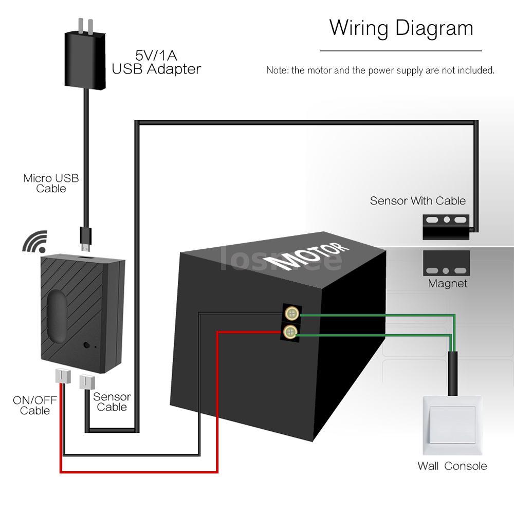 details about wifi smart switch garage door controller compatible garage  door opener h7z4