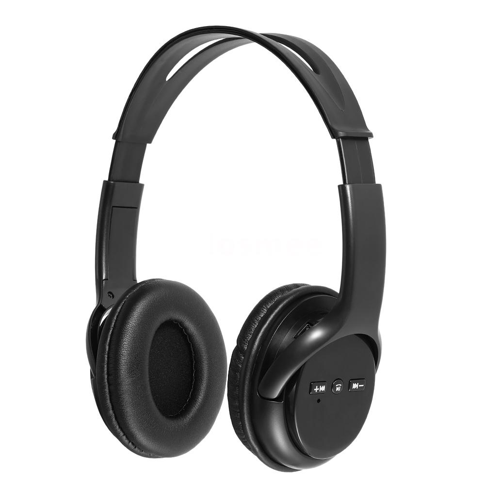Stereo Bluetooth Wireless Headset/Headphones With Call Mic/Microphone Black L6B1
