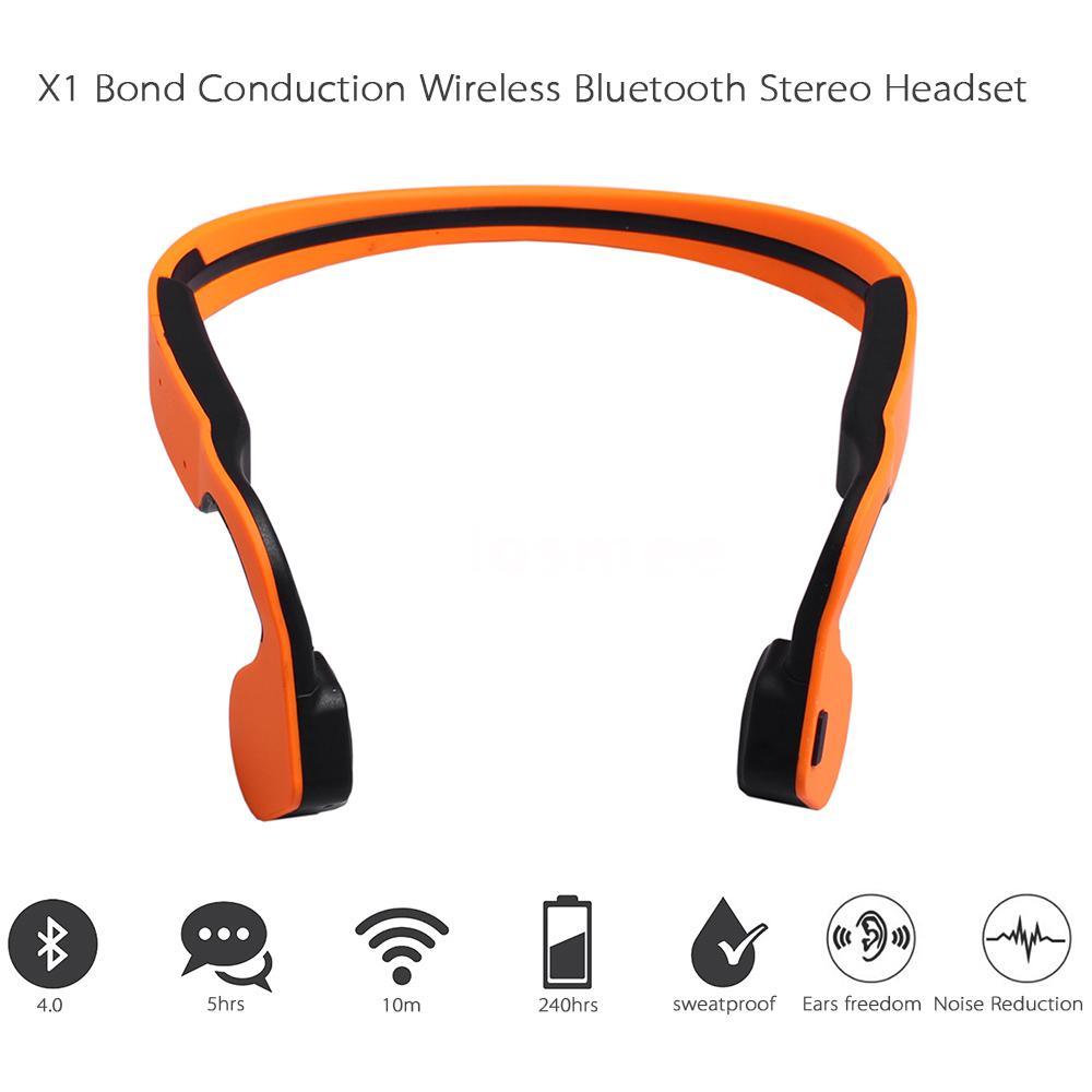 bone conduction waterproof bluetooth stereo headset headphone for iphone samsung ebay. Black Bedroom Furniture Sets. Home Design Ideas