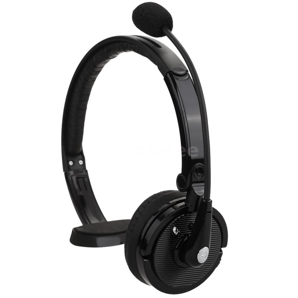 boom mono wireless bluetooth headphone headset fr truck driver ps3 phone pc ebay. Black Bedroom Furniture Sets. Home Design Ideas