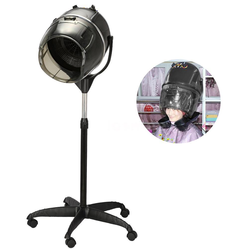 Portable Hair Dryer ~ Portable rolling beauty salon hair blow dryer bonnet stand