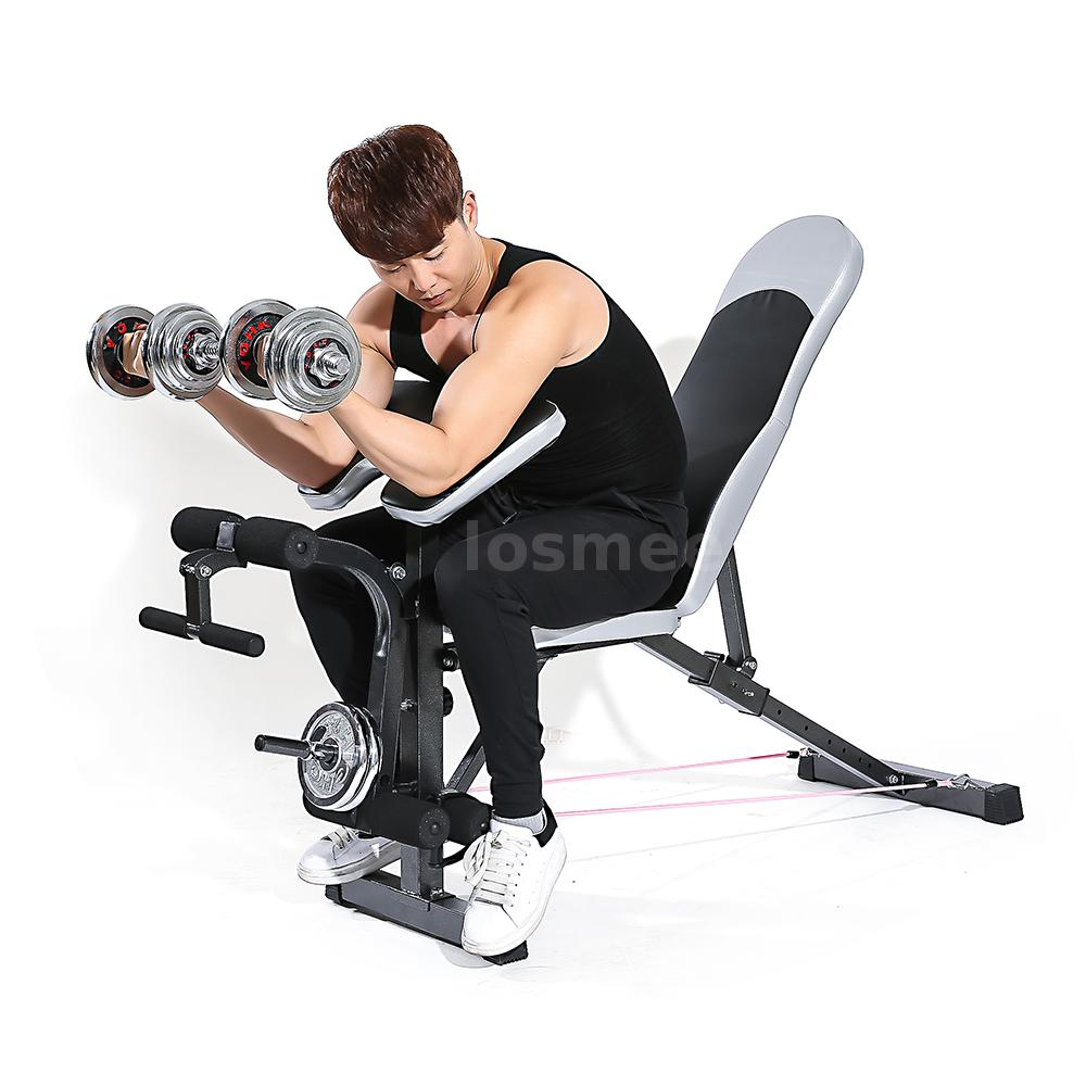 Tomshoo adjustable bench weight lifting home gym equipment