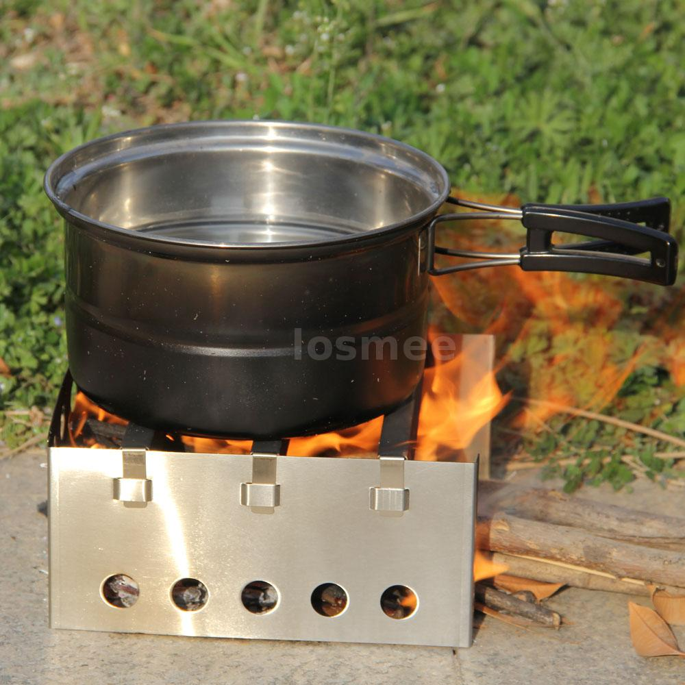 LIXADA Durable Stainless Steel Wood Stove Outdoor Camping Picnic Burner LS  J7Q4 - LIXADA Durable Stainless Steel Wood Stove Outdoor Camping Picnic
