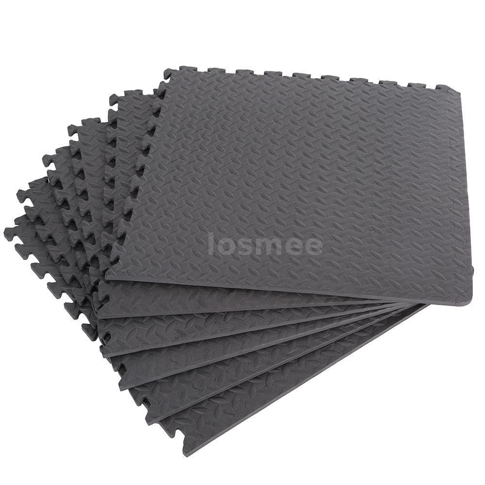 Floor mats for house - 6 Pcs Protective Floor Mat Gym Garage Exercise House Flooring Carpet N2l7