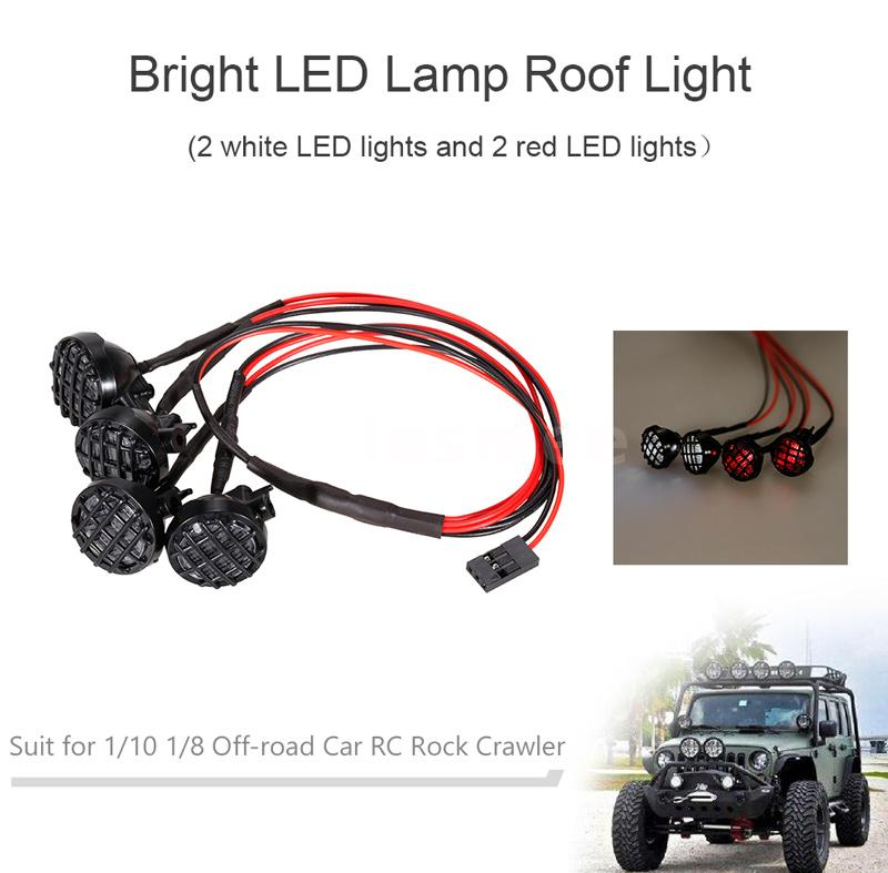 Bright LED Lamp Roof Light for 1/10 1/8 RC Auto Car TAMIYA CC01 ...